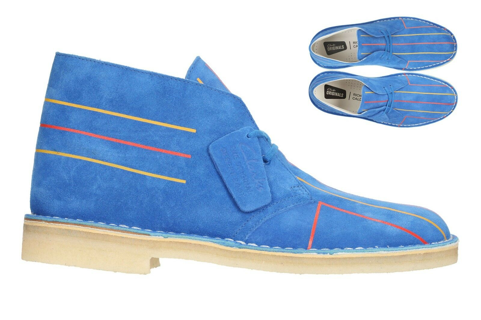 Clarks Original Uomo ** Desert Lines Electric Blue ** 65 Years ** G