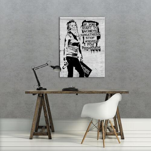 Toile photo La Fresque Toile Poster Banksy Street Art révolte 3fx2035o6
