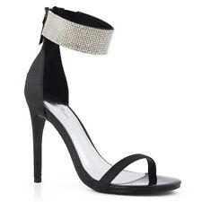 cbebbc454040 item 1 Womens Diamante Ankle Strap Heels Ladies Sparkly Stiletto Peeptoe  Party Sandals -Womens Diamante Ankle Strap Heels Ladies Sparkly Stiletto  Peeptoe ...