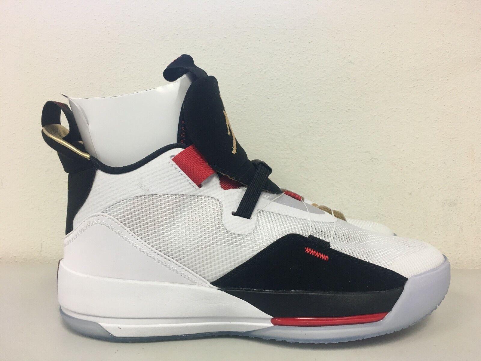 a17da006b23518 Nike Air Jordan 33 Future of Flight White Gold Black Aq8830 100 Mens ...