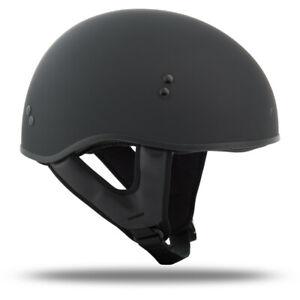 GMAX HH-65 Naked Ghost/Rip Half Motorcycle Helmet Black
