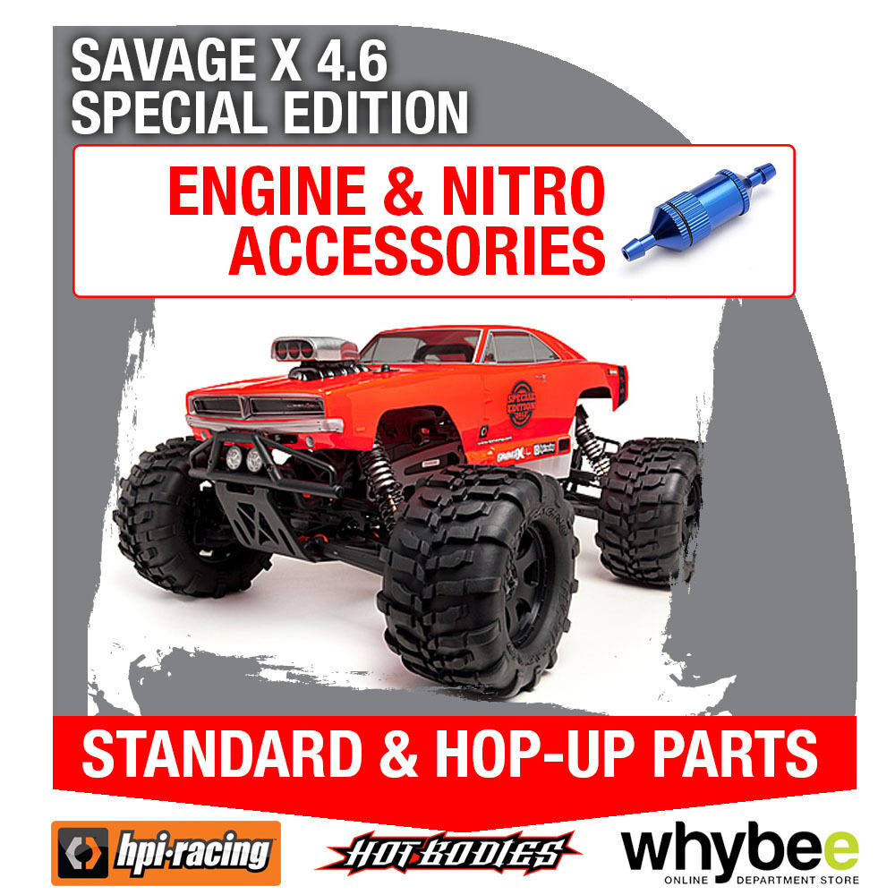 HPI SAVAGE X 4.6 SPECIAL EDITION [All Engine Parts] Genuine HPi Racing R C Parts