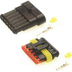 WATERPROOF Electrical Wire Connector Kits 12//24V 3 1 4 2 6 Way 5