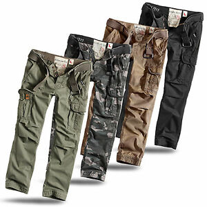 El En Raw Ejército Aire Cargo Surplus Slim Fit Pantalón