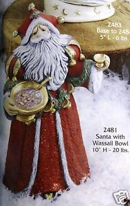 Ceramic-Bisque-Santa-with-Wassail-Bowl-Gare-Mold-2481-U-Paint-Ready-To-Paint