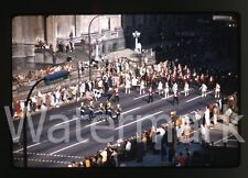 1961 Kodachrome photo slide Indianapolis IN parade  #8 Majorette Baton Twirlers