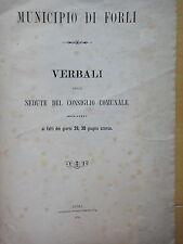 1874-MUNICIPIO DI FORLI'-VERBALI-DISORDINI PREZZO DELLA FARINA
