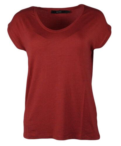 Vero Moda Damen Shirt T-Shirt VMLORA SS STRIPED TEE chinese red