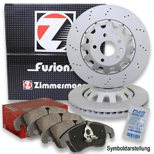 2x ZIMMERMANN Bremsscheiben Ø356mm + Beläge Hinten für Audi RS6 C6 Quattro 580PS
