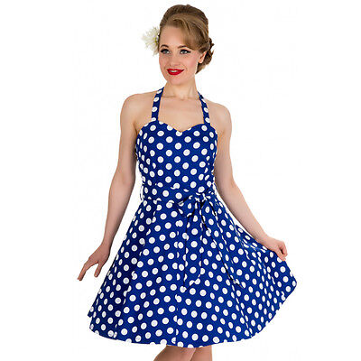 1950s Spotted Circle Dress Evening Wear,Party Wear Size 8 Halter Neck Dress Womens Dress Spotted Dress Size 6