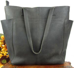 EUC-Duluth-Trading-Lifetime-Classic-Full-Grain-Leather-Shopping-Tote-Bag-Handbag