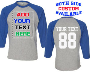 5fa0bd8f145 BASEBALL Custom Shirts Front Back Add Your Text Baseball Shirt ...