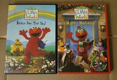 Sesame Street Dvd Lot Elmo S World Dvd S Reach For The Sky Happy Holidays Ebay