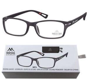 Montana-Gafas-de-lectura-negro-mate-Soft-Touch-MUJER-HOMBRE-plastico-geschenkbox