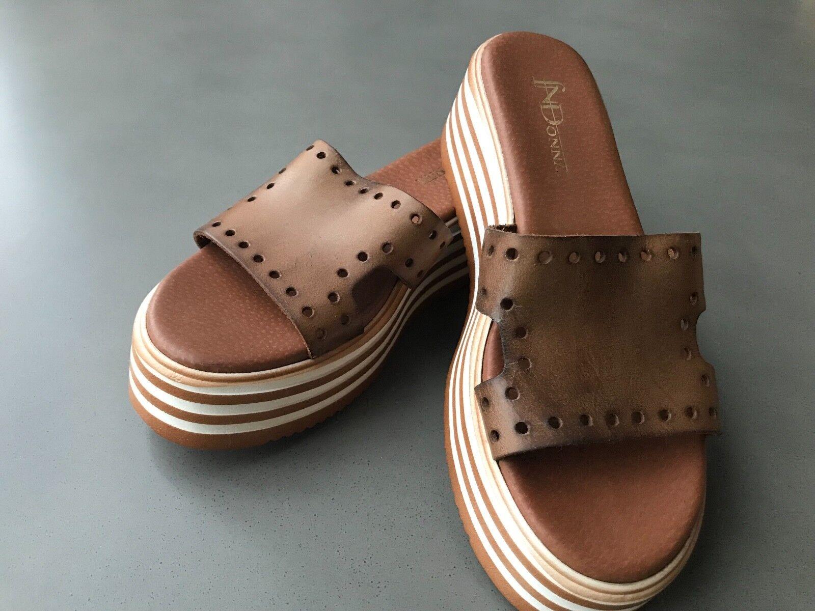 Leather Platform Slider shoes - size 39