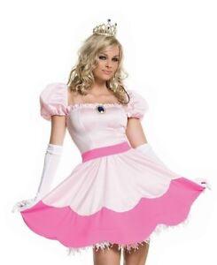 Image is loading Authentic-Leg-Avenue-83094-Women-039-s-Princess-  sc 1 st  eBay & Authentic Leg Avenue 83094 Womenu0027s Princess Peach Costume Small USA ...