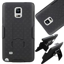 Samsung Galaxy Note 4 Belt Clip Holster Combo Cell Phone Case w/ Kickstand Cover