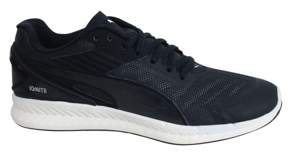 Puma Ignite V2 Noir à lacets textile hommes Baskets de course fitness 188611 09