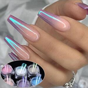 Pigment-Chrome-Ice-Transparent-Neon-Powder-Magic-Mermaid-Nail-Mirror-Powder