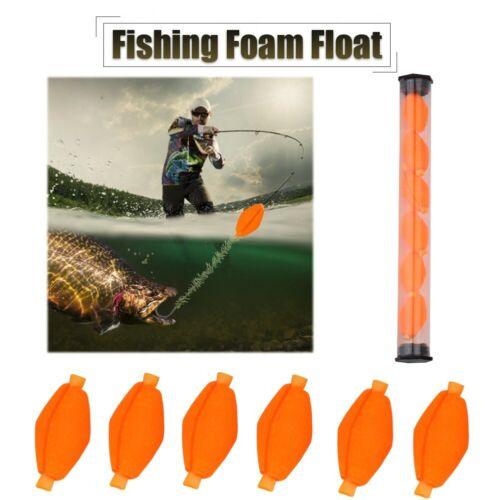 Orange 6pcs Set Fly Fishing Buoy Bobbers Foam Floats Strike Indicator Tackle Kit