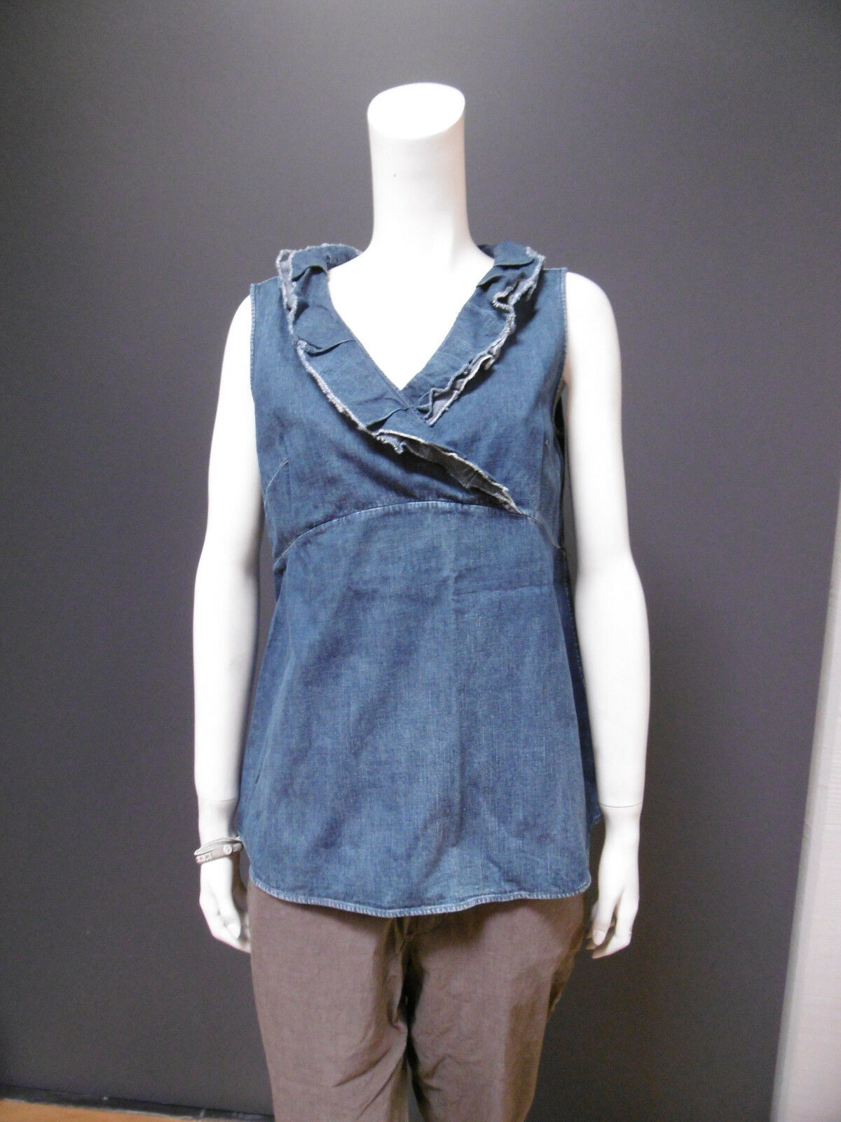 45rpm 45R 100 % cotton jean top   blouse NEW with TAG  Größe   4  indigo