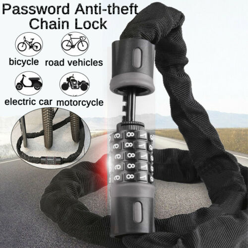 Bike Password Chain Lock Anti-theft Coiling Combination Security Lock