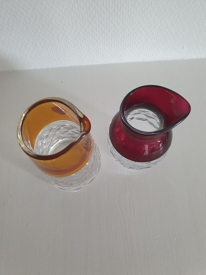 Glas, Flødekander, Waterford Crystal