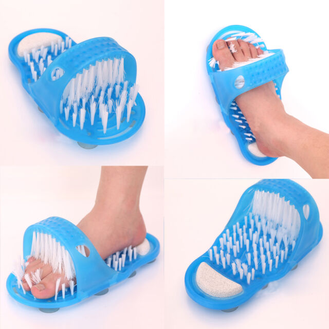 New Easy Exfoliate Shower Feet Foot Cleaner Scrubber Washer Bath Brush Massager