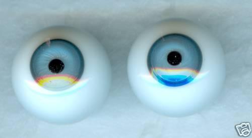 10 mm Blue Handblown German Glass Eyes Holes on Side E9