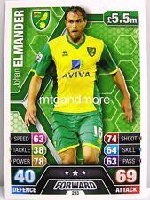 Match Attax 2013/14 Premier League - #233 Johan Elmander - Norwich City
