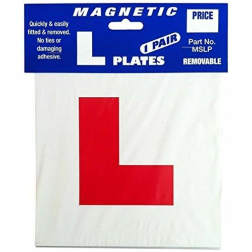 Pack Of 2 L Plate Magnetic Learning Red Pair Removable for Car Van