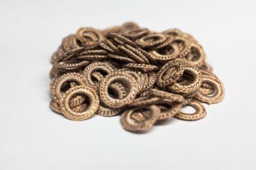 144 PCS Covered Crochet Ring for Furs Light tan Colors: Blonde Mole