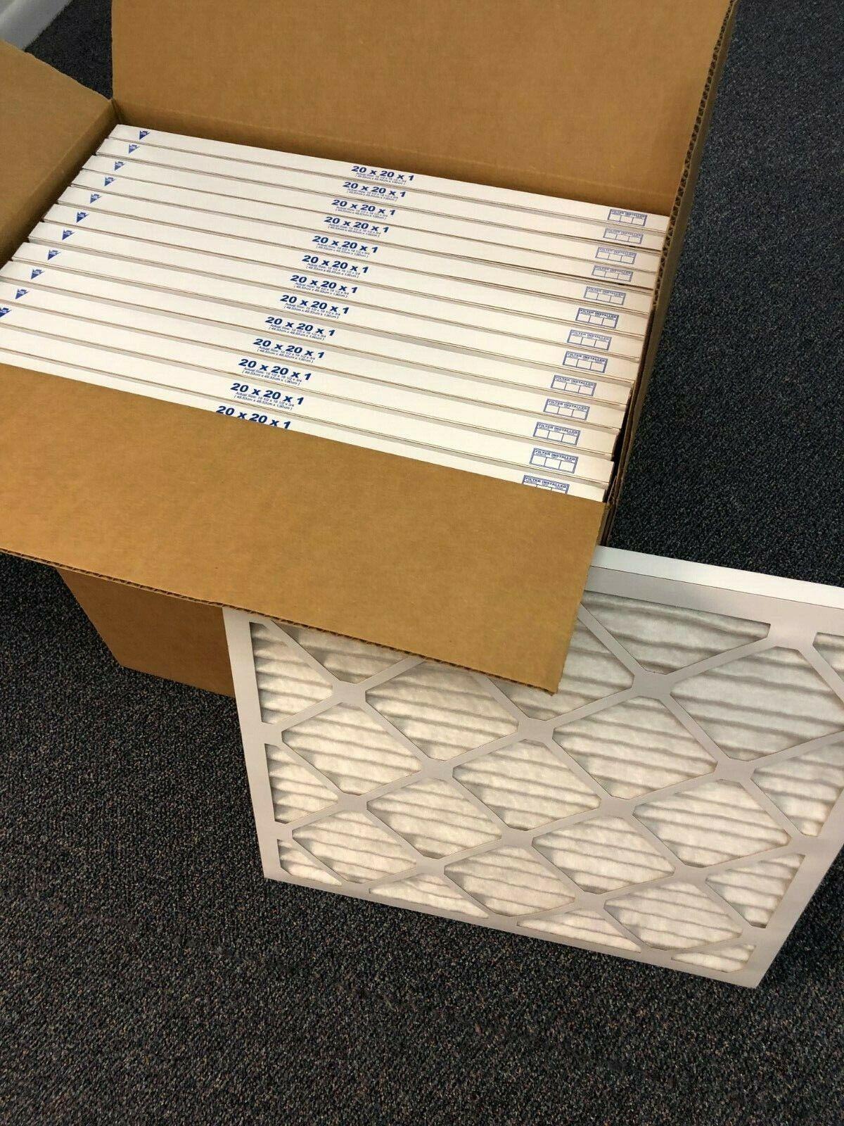 20X20X1 MERV 8 Pleated Air Filter 12-Pack