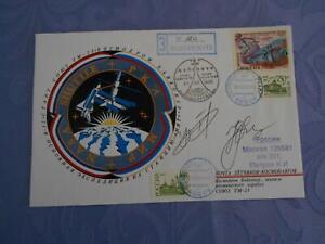 Sojus TM 23 Startbeleg original Crewsigniert Space