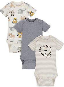 GERBER Baby Boys 3-Pack Organic Pant