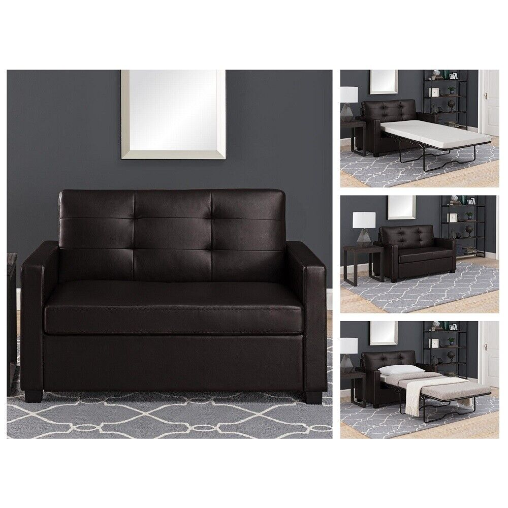 - Loveseat Sleeper Sofa With Pull Out Twin Bed Mattress For Sale