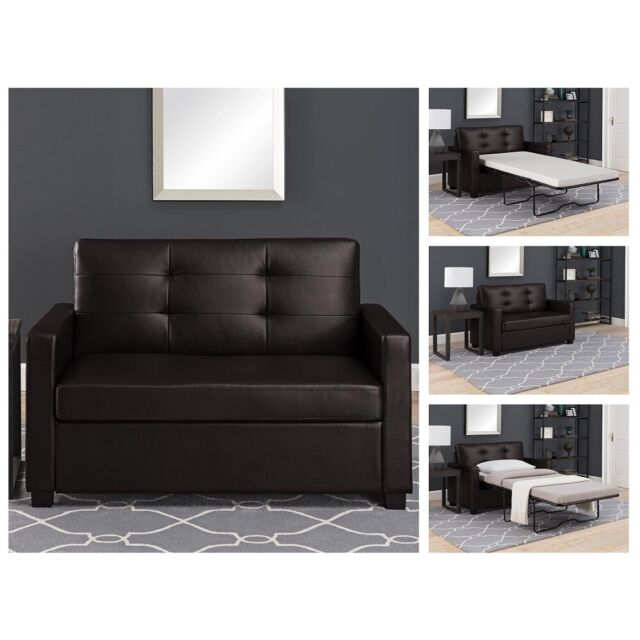 Loveseat Sofa Sleeper Convertible Brown