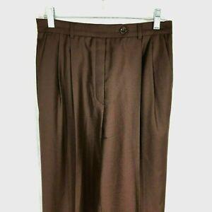 Escada-Sport-Womens-Solid-Brown-Wool-Rayon-Blend-Casual-Pants-sz-36-6