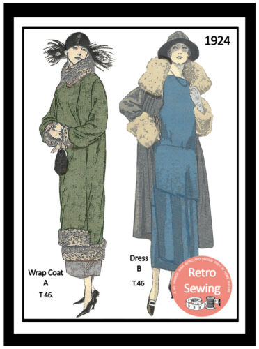 1920/'s Sewing Pattern for a Flapper Dress /& Coat
