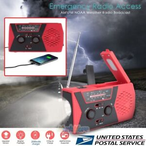 Emergency-Radio-Dynamo-Solar-Hand-Crank-AM-FM-SW-Radio-Music-Phone-Charger-RED