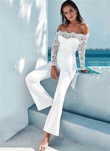 abito tuta intera  estate bianco elegante comodo leggero pantaloni  4444