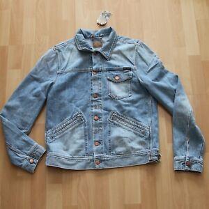 NEU zu M JeansJacke Twill Denim Nudie Denim Tommy Jeansjacke Details Jacket Broken MqUzSVp