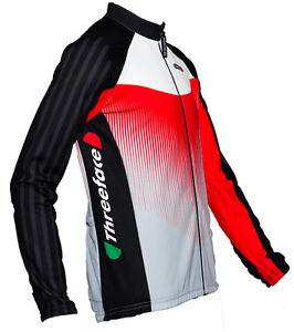 Maglia-manica-lunga-ciclismo-termica-traspirante-felpata-rosso-autunno-primavera