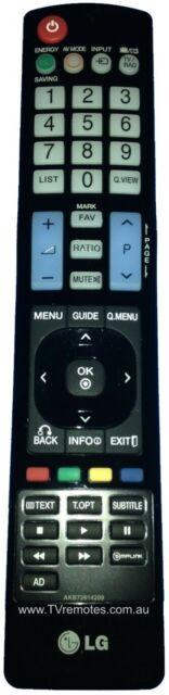 AKB72914209 Genuine LG TV Remote Control 42LE5310 47LE5310 55LE5310 =AKB74115502