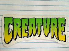 """Creature, Skate Board Sticker, Decal, AWESOMELY COOL, 4"""" x 2"""""""