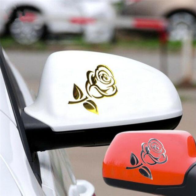 Reflective 3D Cutout Rose Auto Sticker Body Decor Flower Car Sticker FF