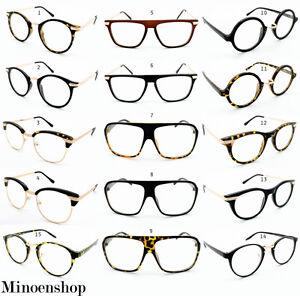 Super-Vintage-Gafas-Lentes-Transparentes-Monturas-Geek-Nerd-Hombre-Mujer