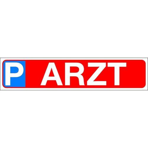 Schild Kennzeichen 51 x 11 cm Parkschild P Parken Parkplatz Arzt 308907