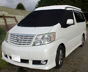 Toyota-Alphard-Vellfire-Black-Screen-Cover-Blind-Camping-Sun-Frost-Protection