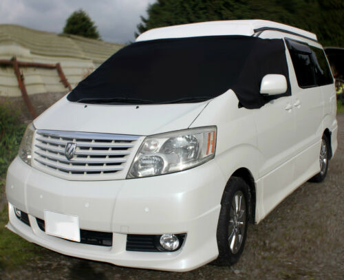 Toyota Alphard Vellfire Black Screen Cover Blind Camping Sun Frost Protection